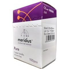 MERIDIUS PURE 0.25 x 25 mm MANCHE CUIVRE BOBINE SS MANDRIN (1x100)-MEPU2525100